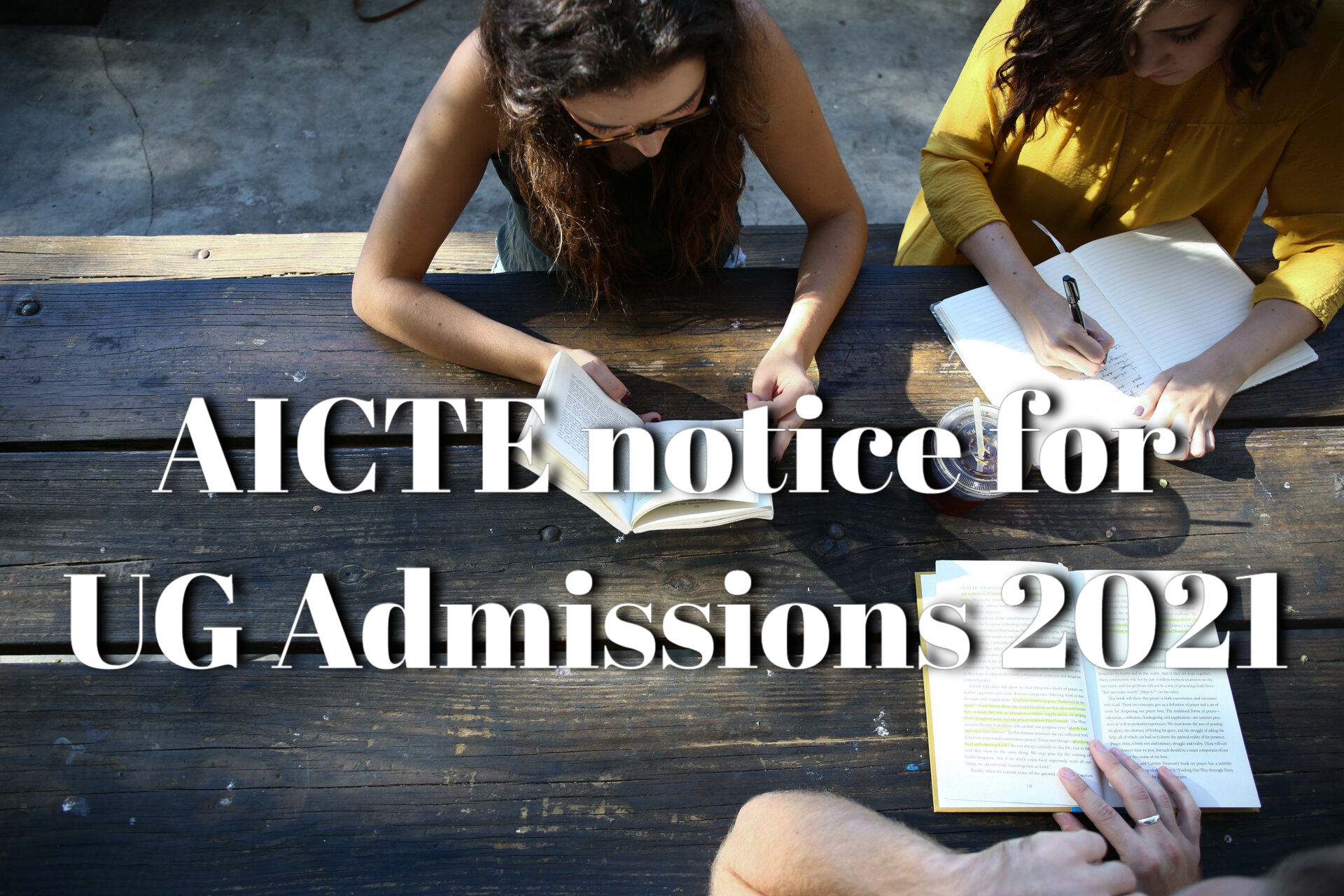An important announcement on AICTE-India's website regarding UG Admissions 2021 is now available